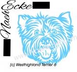 PLOTTERdatei Westhighland Terrier Nr. 6 SVG / EPS