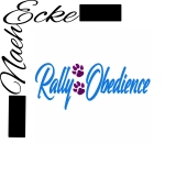 Embroidery Rally Obedience 6 7.87 x 11.02