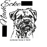 Embroidery Border Terrier 2 4x4