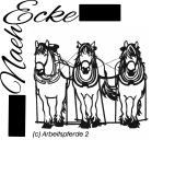 Embroidery Working Horse / Draft Horse / Logging Horse Nr. 2 7.87 x 11.81