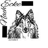 Stickdatei Collie Nr 8 Scrib-Art 13x18