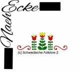Embroidery  Swedish folklore 2 4x4
