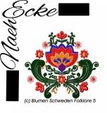 Embroidery  Swedish folklore 5 5x7
