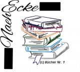 Stickdatei Bücher 1 Doodle 13x18