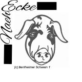 Stickdatei Schwein 1 / Bentheimer Schwein 1 10x10