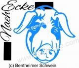 PLOTTERdatei Schwein 1 / Bentheimer Schwein 1 SVG / EPS