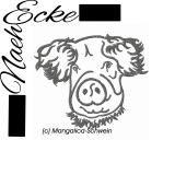 Stickdatei Schwein 2 Mangalica-Schwein 10x10