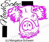 PLOTTERdatei Schwein 2 Mangalica-Schwein SVG / EPS