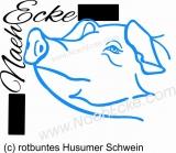 PLOTTERdatei Schwein 3 rotbuntes Husumer Schwein SVG / EPS