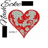 Embroidery File Heart 1 4x4