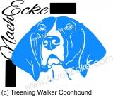Plotterdatei Treening Walker Coonhound SVG / EPS