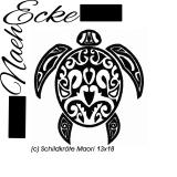 Stickdatei Maori Schildkröte 13x18