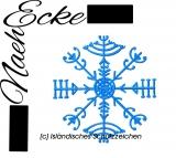 Stickdatei Schutzsymbol veldismagn Island 20x30