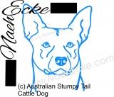 PLOTTERdatei Australian Stumpy Tail Cattle Dog SVG / EPS