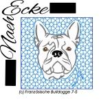 Stickdatei Französische Bulldogge Nr. 7-5 10x10