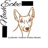 Stickdatei Maneto / Podenco Andaluz Maneto 10x10