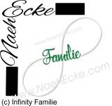 Stickdatei Unendlichkeit Infinity Familie 10x10