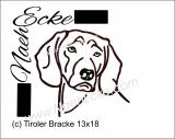 Stickdatei Tiroler Bracke 1 13x18