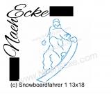 Stickdatei Snowboardfahrer 1 13x18