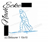 Stickdatei Skitourer 1 10x10