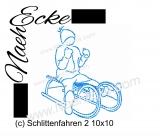 Stickdatei Schlittenfahren 2 10x10