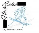 Stickdatei Skifahrer / Ski 1 13x18