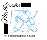 Embroidery ice hockey player 3  5x7
