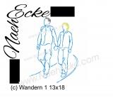 Stickdatei Wandern 1 13x18