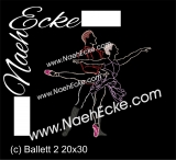Embroidery Ballet 2 11.81 x 7.87