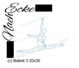 Embroidery Ballet 3 11.81 x 7.87