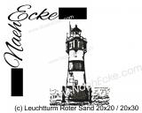 Stickdatei Leuchtturm Roter Sand 20x20 / 20x30 Scrib-Art