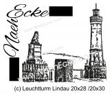 Stickdatei Leuchtturm Lindau / Bodensee 20x28 / 20x30 Scrib-Art
