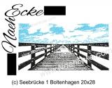 Stickdatei Seebrücke Boltenhagen 20x28