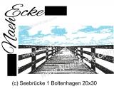 Stickdatei Seebrücke Boltenhagen 20x30