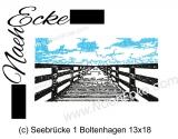 Stickdatei Seebrücke Boltenhagen 13x18