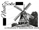 Stickdatei Windmühle 01 Bederkesa 20x28 / 20x30 Scrib-Art