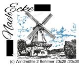 Stickdatei Windmühle 02 Behlmer 20x28 / 20x30 Scrib-Art