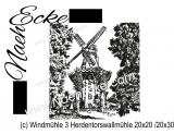 Stickdatei Windmühle 03 Herdentorswallmühle 20x20 / 20x30 Scrib-Art