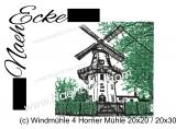 Stickdatei Windmühle 04 Horner Mühle 20x20 / 20x30 Scrib-Art