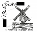 Stickdatei Windmühle 05 Bockwindmühle Klettbach 20x20 / 20x30 Scrib-Art