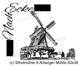 Stickdatei Windmühle 06 Arberger Mühle 20x28 / 20x30 Scrib-Art