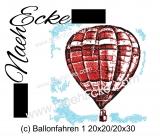 Stickdatei Ballonfahren 1 20x20 / 20x30