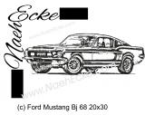 Stickdatei Mustang Bj 68 20x30