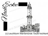 Stickdatei Leuchtturm Warnemünde 15x26 hochkant Scrib-Art