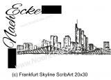 Stickdatei Frankfurt Skyline Scrib-Art 20x30