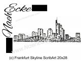 Stickdatei Frankfurt Skyline Scrib-Art 20x28
