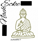 Stickdatei Buddha 1 13x18