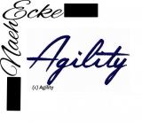Stickdatei Agility Nr 9 Schriftzug