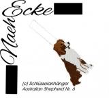 Stickdatei Australian Shepherd Nr. 6 ITH Schlüsselanhänger
