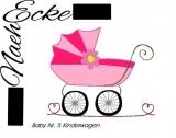 Stickdatei Baby 5 Kinderwagen 10x10